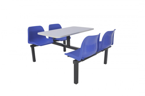 Canteen Furniture 4 seater double entry