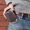 Leather Wad Wallet, hammer riveted minimalist half wallet, premium full grain leather by American Bench Craft