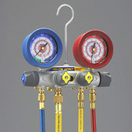 """Ritchie Yellow Jacket 46022 BRUTE II Manifold, 3-1/8"""" Gauges, w/Hoses R12/22/502"""