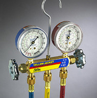 """Ritchie Yellow Jacket 41213 - Series 41 Manifold, 2-1/2"""" Gauges, 36"""" Hoses R-12/22/502"""