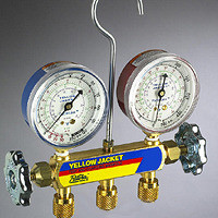 """Ritchie Yellow Jacket 41212 - Series 41 Manifold Only, 2-1/2"""" Gauges, R-12/22/502"""