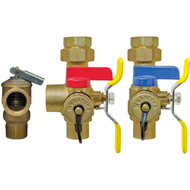 "Webstone Isolator / EXP Bosch Combi Boiler Heating Side 1"" Valve Kit With Pressure Relief Valve"