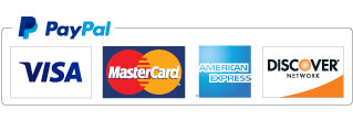 We accept Paypal - MasterCard - VISA - Discover - American Express