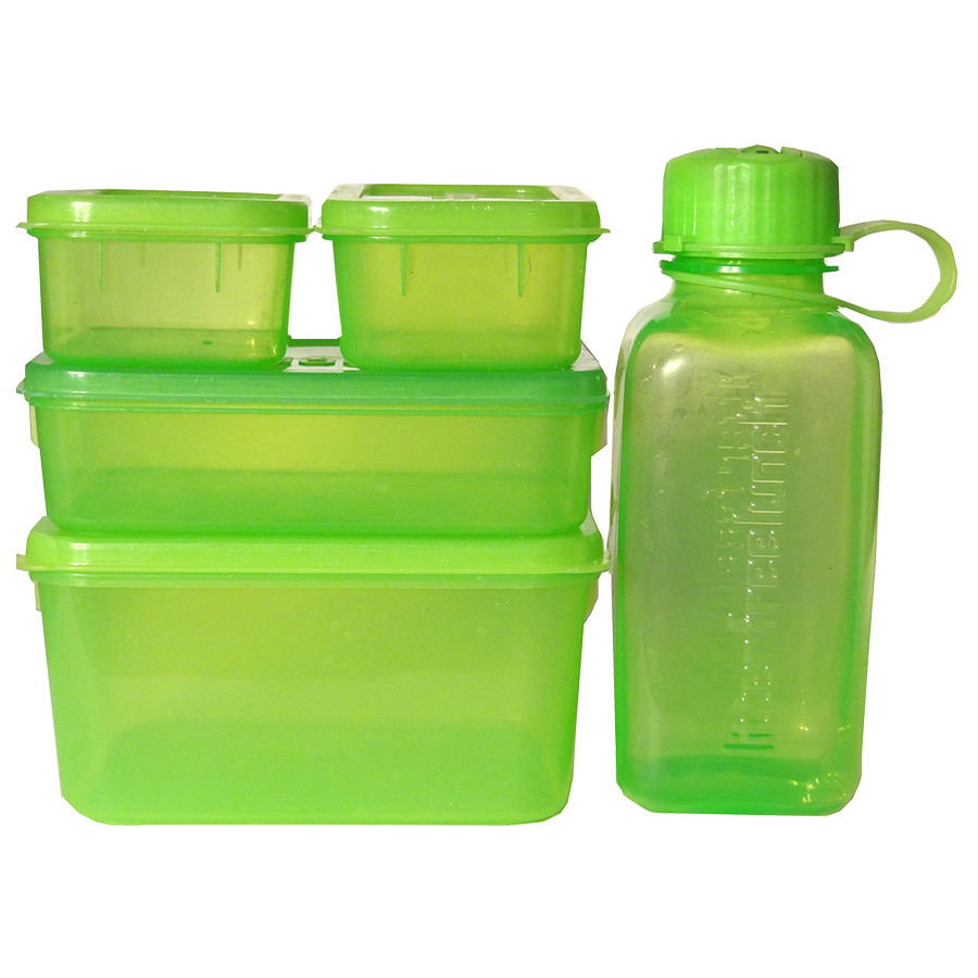 Lovely Lunchopolis Litter Free Lunchbox 4 BpA Free Containers + Bottle GW04