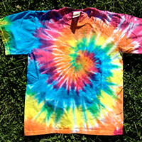 Kids' Organic Cotton Tie Dye T-Shirt - Spiral Pattern