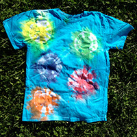 Kids' Organic Cotton Tie Dye T-Shirt - Fireworks Pattern