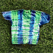 Men's Organic Cotton Tie Dye T-Shirt - Vertical Stripe