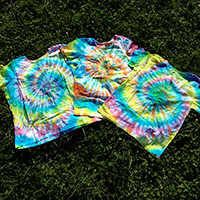 Women's Organic Cotton Tie Dye T-Shirt - Spiral Pattern