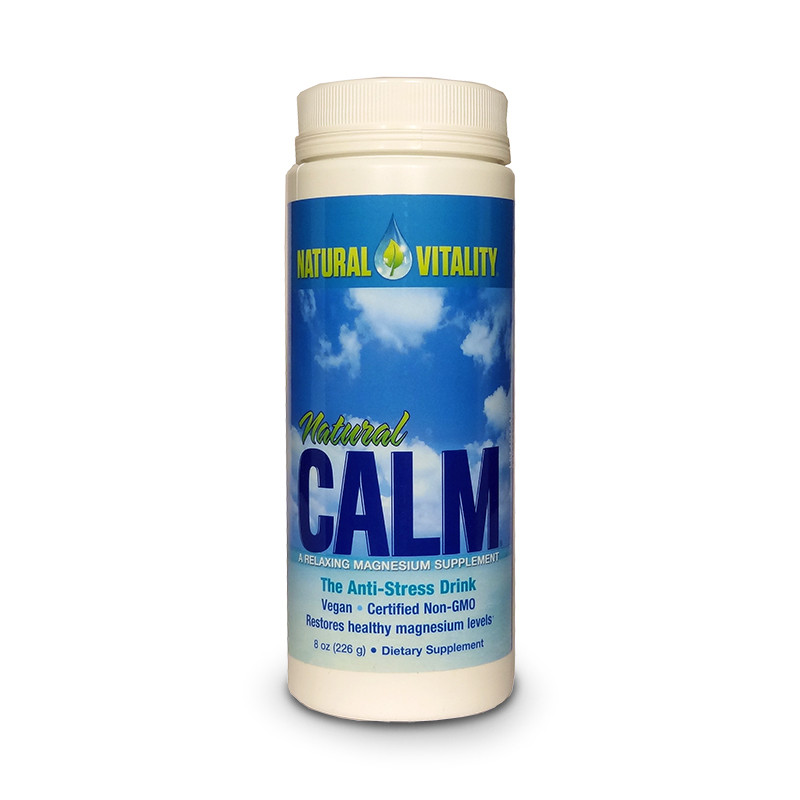 Front view of container of Natural Calm by Natural Vitality.
