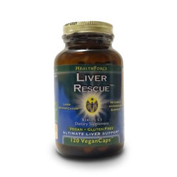 Thumbnail view  of a bottle of HealthForce Nutritionals Liver Rescue  liver support capsules.