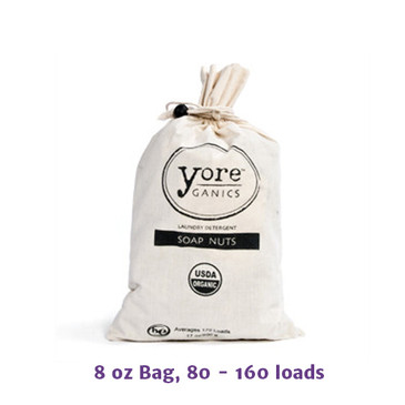 Thumbnail picture of an 8 oz bag of Yoreganics Soap Berries, USDA certified organic laundry wash.