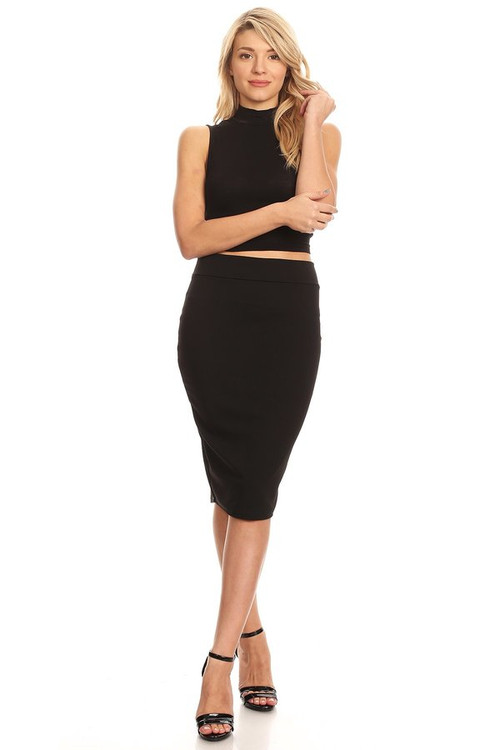 The VIBE Pencil Skirt: Black