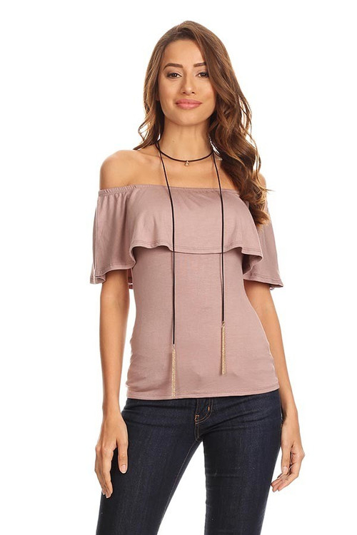 Off Shoulder Ruffle Top: Coco