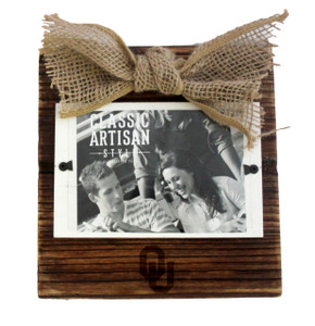 Oklahoma Wood Frame with Burlap Bow