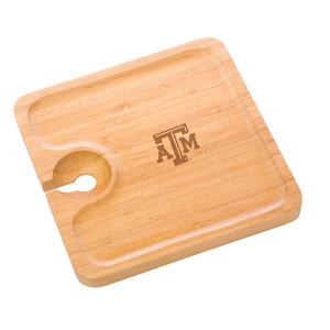 Texas A&M Bamboo Party Plate