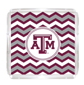 Texas A&M Lucite Tray 12x12