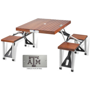 Texas A&M Folding Picnic Table for 4