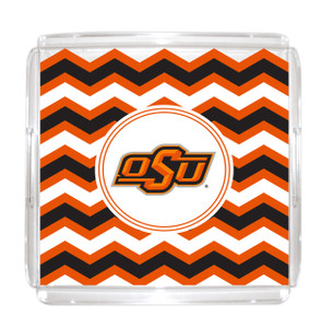 Oklahoma State Lucite Tray 12x12