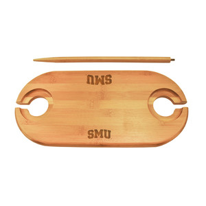 Southern Methodist Bamboo Picnic Table