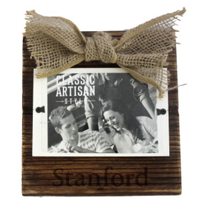 Stanford Wood Frame with Burlap Bow
