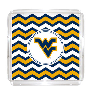 West Virginia Lucite Tray 12x12