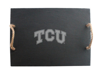 Texas Christian Slate Server with Rope Handles