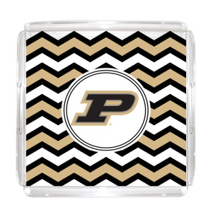 Purdue Lucite Tray 12x12
