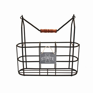 Iowa State Vintage Bottle Carrier