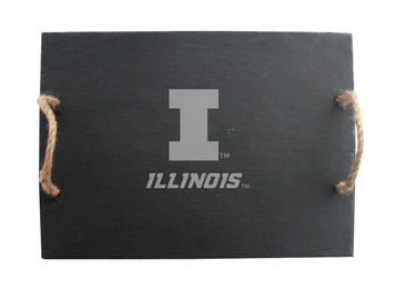 University of Illinois Slate Server with Rope Handles