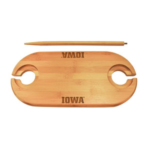 University of Iowa Bamboo Picnic Table