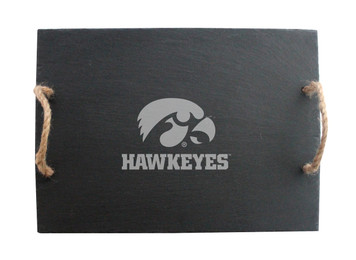 University of Iowa Slate Server with Rope Handles