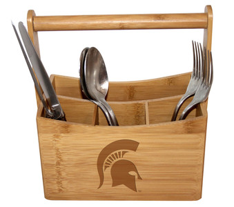 Michigan State Bamboo Caddy