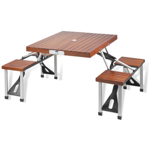 Mississippi State Folding Picnic Table for 4