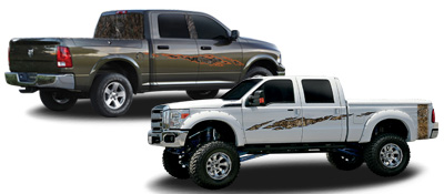 camouflage vehicle graphics and rocker panels