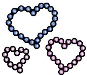 Rhinestone Hearts Decal