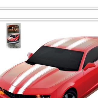 8006 -  White Racing Stripe