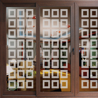 EtchedFX glass film style: Neuvo Blocks - GE4009