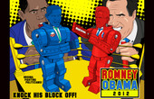 Romney Obama 2012 Poster
