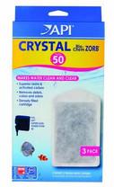 API SUPERCLEAN Power Filter Crystal Bio-Chem Zorb Size 50 3pk