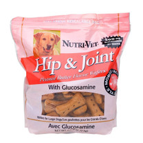 Nutri-Vet Hip & Joint Wafer for Large Dogs with 500 mg Glucosamine per wafer