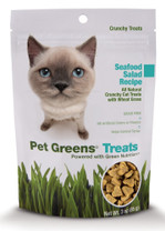 Bell Rock Growers Pet Greens Crunchy Cat Treat Seafood Salad 3oz