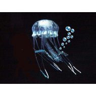 Eshopps Glowing Effect Floating Jellyfish Ornament Clear 4in