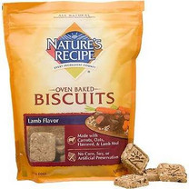 Nature's Recipe Oven Baked Lamb Dog Biscuits, 19 oz.