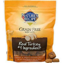 Nature's Recipe Grain Free Turkey & Sweet Potato Dog Biscuits, 14 oz.