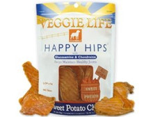DOGSWELL VEGGIE LIFE HAPPY HIPS Sweet Potato Chew with Gluosmine & Chondroitin 15oz