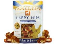 DOGSWELL VEGGIE LIFE HAPPY HIPS Chicken & Banana with Gluosmine & Chondroitin 15oz