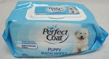 8 in 1 Perfect Coat Bath Wipes Puppy 100ct