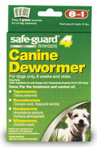8 in 1 Safeguard 4 Canine Dewormerfor Small Dogs 1gram