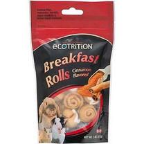 eCotrition EC-84212 2-Ounce Breakfast Rolls Animal Treat, Small, Cinnamon Flavored