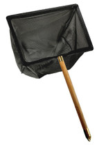 Taam Fish Net With Wood Handle Coarse Mesh 8x12in